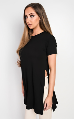 View the Zona Basic Side Split Casual Top online at iKrush