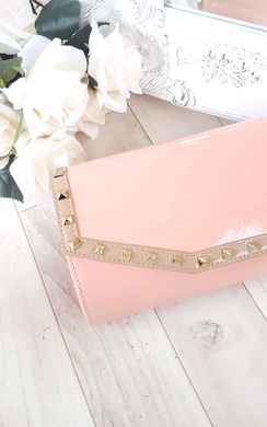 View the Nelly Studded Envelope Clutch Bag online at iKrush