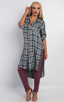 View the Lucy Dipped Hem Maxi Shirt online at iKrush