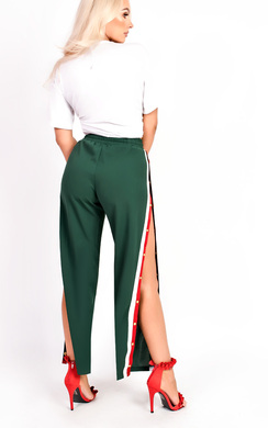View the Erika Popper Legged Stripe Trousers online at iKrush