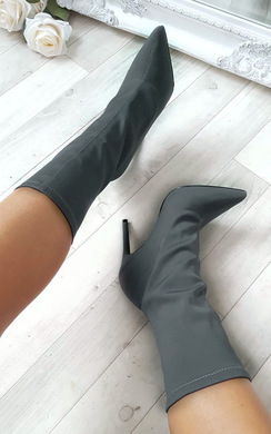 View the Cassie Stretch Ankle Boots  online at iKrush
