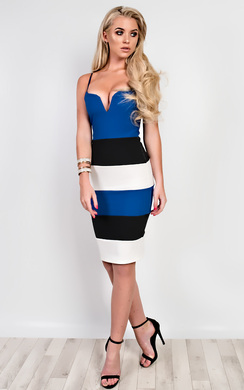 View the Edrie Panelled Bodycon Dress online at iKrush