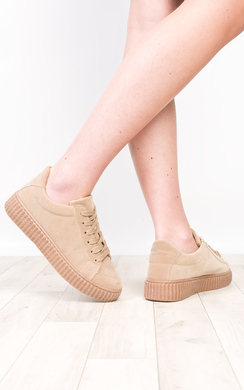 View the Marissa Faux Suede Platform Shoes  online at iKrush