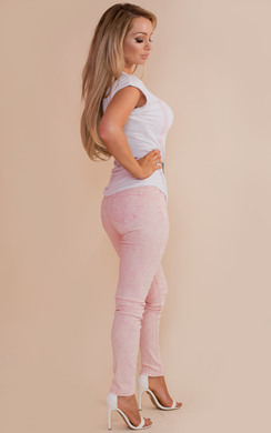 View the Mindy Ripped Skinny Jeans online at iKrush
