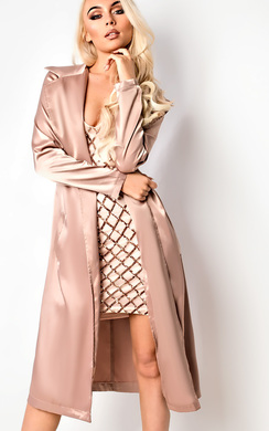 View the Pandora Satin Duster Coat online at iKrush