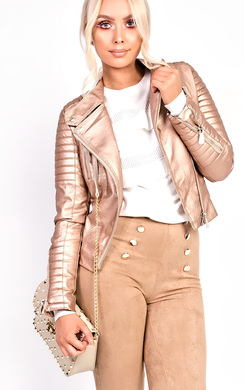 View the Natalia Biker Metallic Jacket online at iKrush