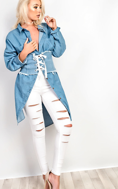 View the Aguilera Slit Ripped Skinny Jeans online at iKrush