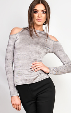 View the Marietta High Neck Cold Shoulder Top online at iKrush