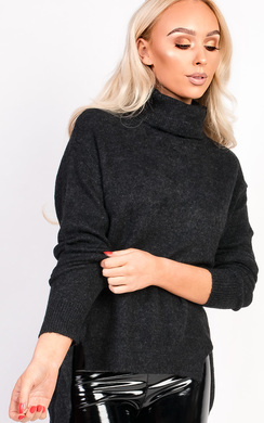 View the Jasmin Thin Knit Polo Neck Jumper online at iKrush