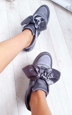 View the Robyn Satin Bow Trainers online at iKrush