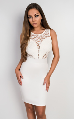 View the Emmelyn Lace Bodycon Dress online at iKrush