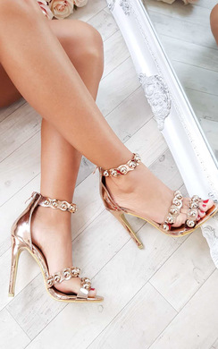 View the Reliana Studded Chrome Heels online at iKrush