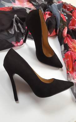 View the Holly Faux Suede Court Heels online at iKrush
