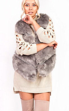 View the Dallis Faux Fur Waistcoat online at iKrush
