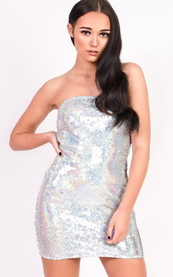 View the Kaya Bandeau Sequin Dress online at iKrush