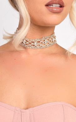 View the Montana Diamante Choker Necklace online at iKrush