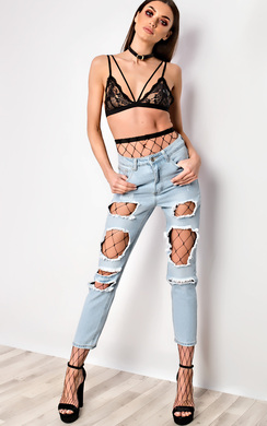 View the Huda Ripped Jeans online at iKrush