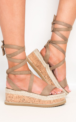 View the Reeva Strappy Wedge Sandals online at iKrush