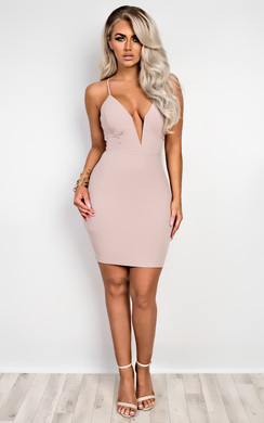 View the Tavi Lattice Back Bodycon Dress online at iKrush