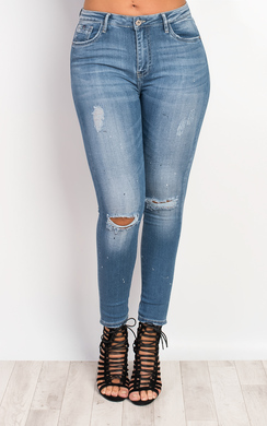 View the Zaraida Ripped Skinny Jeans online at iKrush