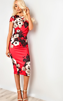 View the Alana Floral Bodycon Dress online at iKrush