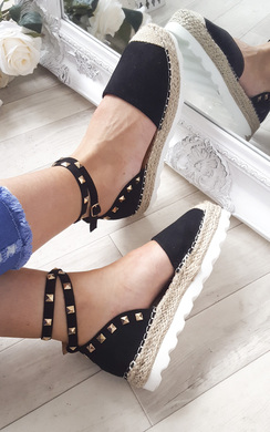 View the Ellie Studded Espadrilles online at iKrush