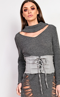 View the Paige Lace Up Corset Belt online at iKrush