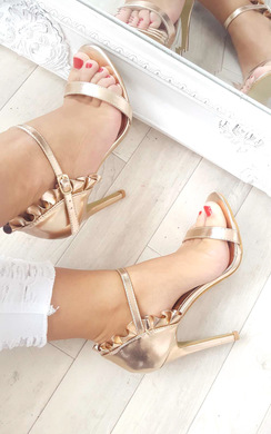 View the Nazzi Faux Suede Frill Barely There Heels online at iKrush