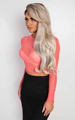 View the Rachelle Mesh Crop Top online at iKrush