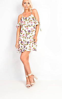 View the Ellie Floral Strappy Shift Dress online at iKrush