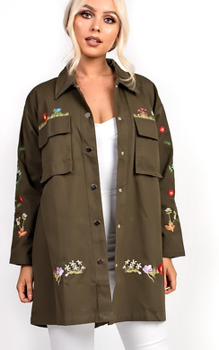View the Haven Khaki Floral Jacket  online at iKrush