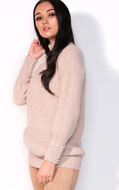 View the Una Beaded Knitted Jumper online at iKrush