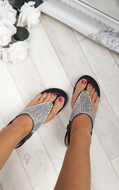 View the Karley Embellished Sandals online at iKrush