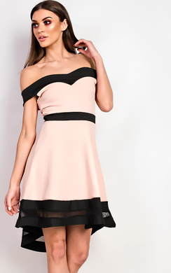 View the Jess Off Shoulder Skater Dress online at iKrush