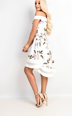 View the Leah Off Shoulder Floral Skater Dress online at iKrush
