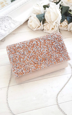 View the Rose Embellished Clutch Bag online at iKrush