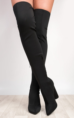 View the Lexzy Stretch Thigh High Boots online at iKrush