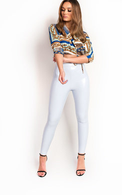 View the Adrina Wet Look PU Leggings  online at iKrush