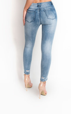 View the Amada Beaded Mid Rise Embellished Jeans online at iKrush