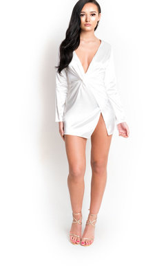 View the Amelia Wrap Front Dress online at iKrush