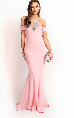 View the Arabella Fishtail Embellished Maxi Dress online at iKrush