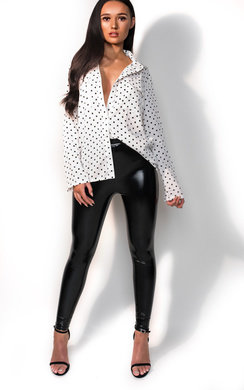 View the Aria Polka Dot Blouse online at iKrush