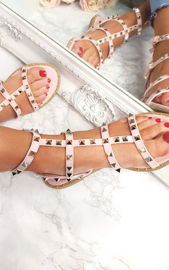 View the Athena Studded Gladiator Sandals online at iKrush