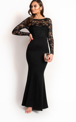 View the Bella Lace Fishtail Maxi Dress online at iKrush