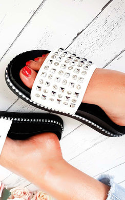View the Bindi Studded Chunky Sliders online at iKrush
