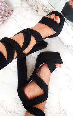 View the Binx High Platform Lace Up Heels online at iKrush