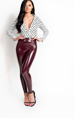 View the Bonnie Polka Dot Bodysuit online at iKrush