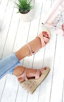 View the Cali Studded Strap Roped Wedges online at iKrush