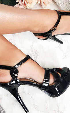 View the Cherie T-Bar Patent High Heels online at iKrush