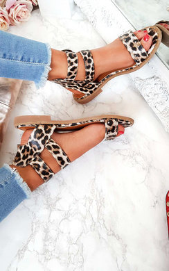 View the Elletra Double Strap Leopard Print Sandals  online at iKrush